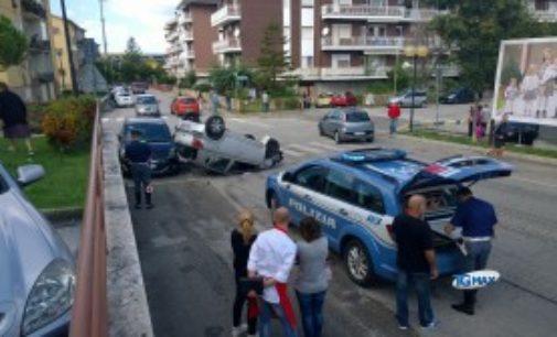 Lanciano: si ribalta per evitare un'altra auto, illeso il conducente