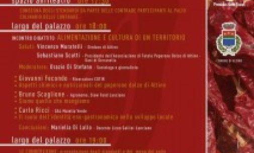 Festival del Peperone dolce di Altino, sabato la Cumbérzieune delle contrade con la presentazione dei menu