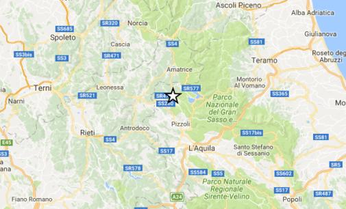 """<div class=""""dashicons dashicons-camera""""></div>Terremoto magnitudo 4 a nord dell'Aquila alle 4:13 con ipocentro a 11 km ed epicentro a Montereale"""