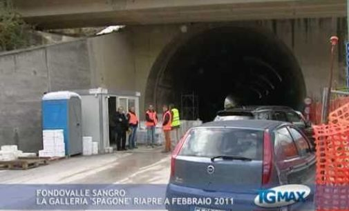 Fondovalle Sangro, la galleria 'Spagone' riapre a febbraio 2011