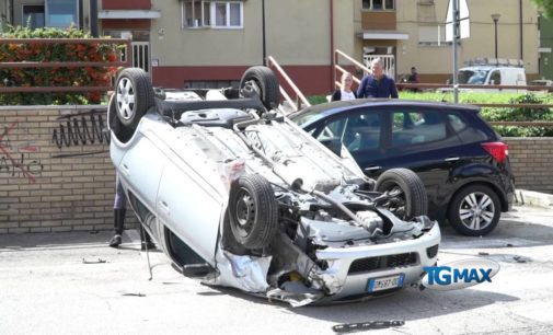 Lanciano, rocambolesco incidente in via Calabrò