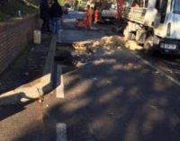 Rottura conduttura acqua a Pescara Colli, chiuso tratto via Colle di Mezzo