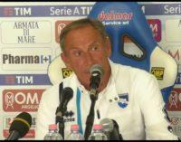 """<div class=""""dashicons dashicons-video-alt3""""></div>Pescara Juventus 0-2 Zeman: Barcellona ha preso 3 gol, noi 2"""