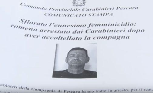 """<div class=""""dashicons dashicons-video-alt3""""></div>Tentato femminicidio a Pescara, lei riesce a fuggire con un coltello nella schiena e lui viene arrestato"""