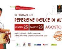 """<div class=""""dashicons dashicons-video-alt3""""></div>Altino, torna il Festival del peperone dolce con il palio culinario delle contrade"""