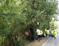 """<div class=""""dashicons dashicons-video-alt3""""></div>A Fossacesia volontari ripuliscono la strada provinciale assieme a Ecolan, grandi e piccini raccolgono mezza tonnellata di rifiuti"""