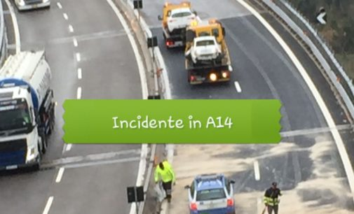 A14, incidente tra Lanciano e Ortona