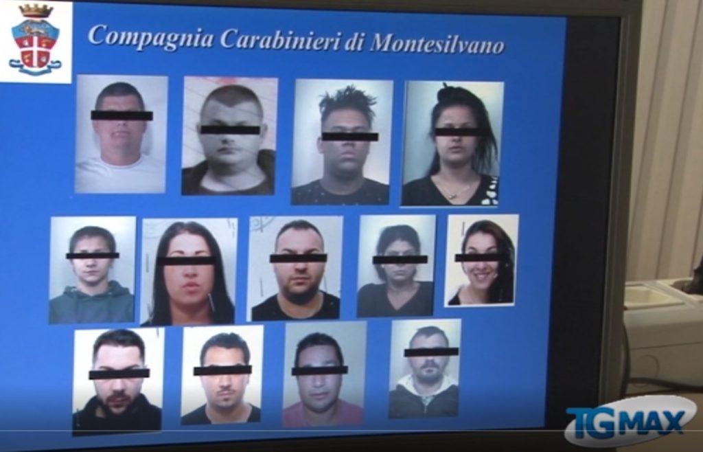 Biltz antidroga dei carabinieri a Montesilvano, fermate 13 persone