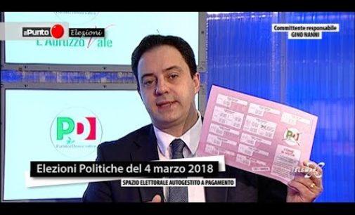 Il Punto Elezioni con Camillo D'Alessandro PD Candidato capolista Camera Collegio Abruzzo 01