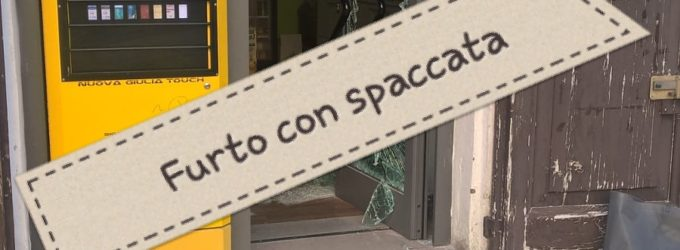 Furto con spaccata a tabaccheria di Lanciano, bottino 40 mila euro
