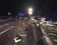 Vasto: incidente in A14, muore autotrasportatore greco