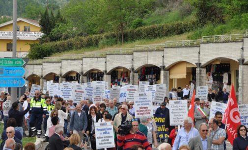 San Gabriele: ecco la marcia per sicurezza sul lavoro