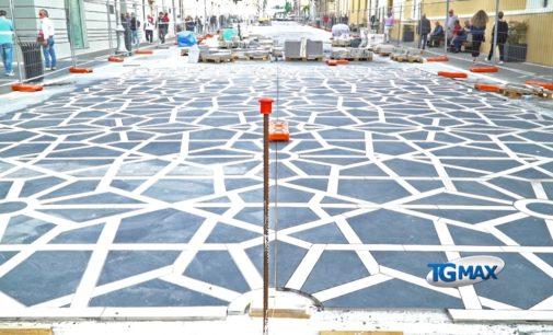 Lanciano: ecco i primi 100 mq della nuova pavimentazione del Corso