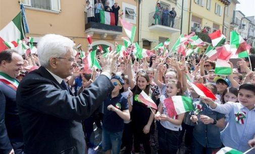 Mattarella a Casoli: la Resistenza è nata in Abruzzo