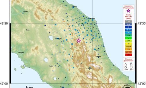 Dopo Muccia nel Maceratese di 4.6, scossa di terremoto a Ocre 3.3