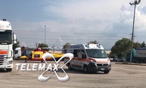 Atessa: muratore cade da trabattello di 3 metri, ricoverato a Pescara