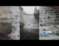 Lanciano allagata dal temporale del pomeriggio: strade chiuse, asfalti divelti, evacuato centro commerciale