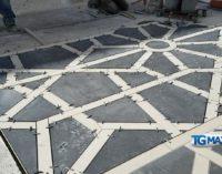 Lanciano: iniziata la posa della nuova pavimentazione nel tratto lungo i portici comunali
