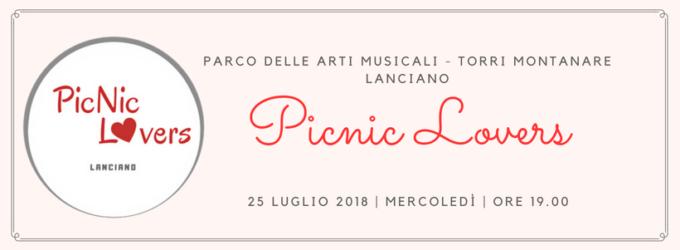 Lanciano: ecco il primo Picnic Lovers d'Abruzzo, mercoledì 25 luglio al Parco delle Arti musicali