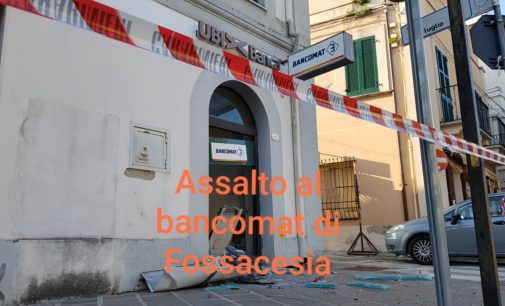 Fossacesia: assalto al bancomat, hanno agito in 3 all'alba