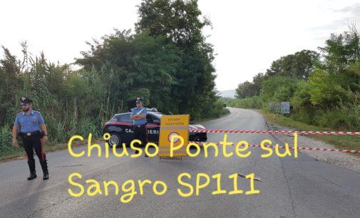 Terremoto, chiuso il ponte sul Sangro della SP 111 Lanciano Atessa