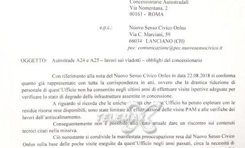 Ministero dei Trasporti senza fondi per i controlli sulle autostrade, ecco la lettera di riposta agli esposti di Nuovo Senso Civico