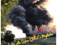Incendio alla Deter Global di Paglieta, evacuata l'area