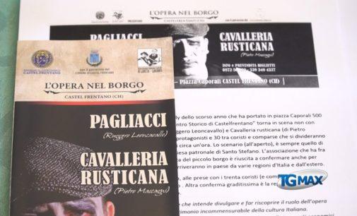 Torna a Castel Frentano l'Opera nel Borgo, in scena Pagliacci e Cavalleria Rusticana