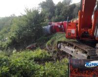 Riaperta la provinciale per Castiglione Messer Marino, recuperato il rimorchio del trasporto di pala eolica