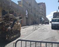 Lanciano senz'acqua in centro, rotta la condotta durante i carotaggi al Corso