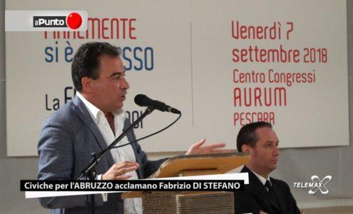 Il Punto Civiche per l'Abruzzo acclamano Fabrizio Di Stefano all'Aurum