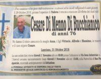 Lanciano, domani pomeriggio le esequie di Cesare Di Menno Di Bucchianico