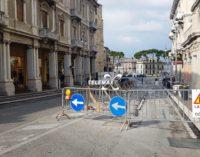Lavori di somma urgenza terminati, riconsegnati i locali ai proprietari: sospesa la nuova pavimentazione del Corso