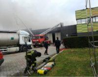 Carsoli: incendio nel magazzino di Madama Oliva, salvi gli operai
