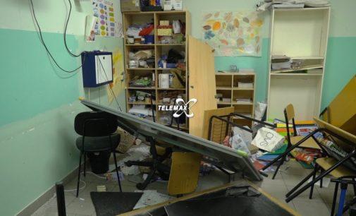 Lanciano: vandali alla scuola di Marcianese, è caccia al gruppetto di adolescenti