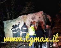 Palombaro: masso si stacca dalla montagna e precipita, evacuate cinque famiglie