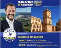 Salvini a Lanciano: è polemica sull'uso della piazza, comizio al Ciak City
