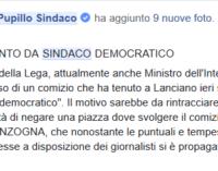 Pupillo: non ho negato la piazza a Salvini