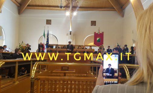 Emiciclo: il presidente della Regione Marsilio presenta la giunta e il programma