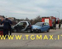 Lanciano: tamponamento in via per Treglio, due feriti