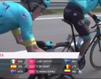 Giro d'Italia in Abruzzo, gruppo di testa a metà corsa