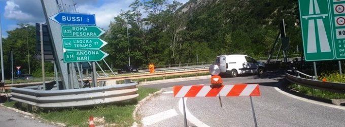 A25: divieto mezzi pesanti tra i caselli di Pratola Peligna e Bussi per tre giorni