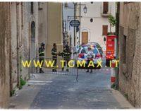 Lanciano: cade l'intonaco da palazzo Lotti, transennata l'area