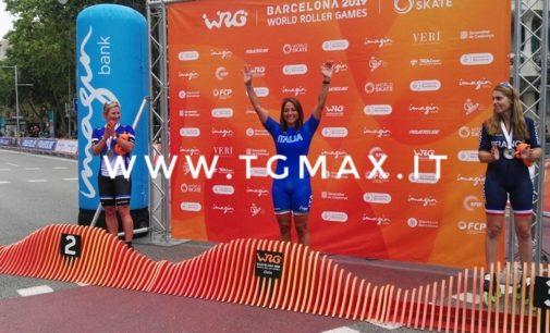 Pattinaggio a rotelle, l'aquilana Susmeli vince la maratona ai campionati mondiali di Barcellona