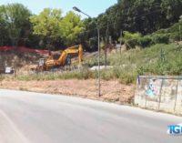 Fossacesia: sbancato un costone per realizzare la strada d'accesso ad una villa privata