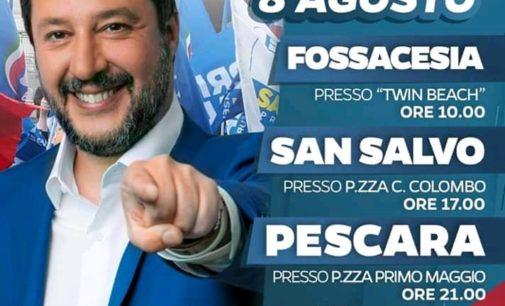 Salvini torna in Abruzzo: farà il bagno a Fossacesia e pranzerà sul trabocco dell'assessore