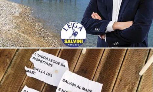 Escrementi e pietre allo stabilimento balneare in attesa di Salvini