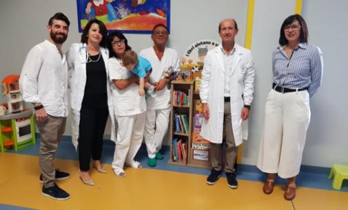 Lanciano: una piccola biblioteca in dono ai bambini della Pediatria dell'ospedale