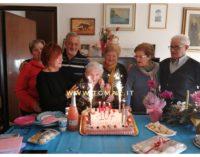 Civitella Messer Raimondo: la trisnonna Bambina compie 107 anni, festeggiata da quattro generazioni di discendenti