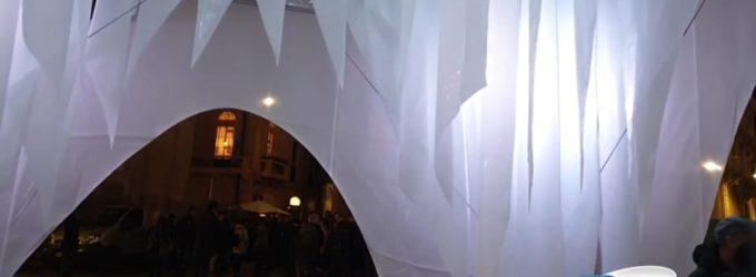 Lanciano accende l'iceberg di Natale: il progettista, spero che inviti la gente a riflettere sul messaggio ambientalista